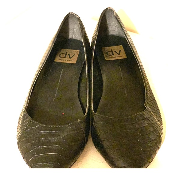 Dolce Vita Shoes - Black snake embossed dolce vita flats